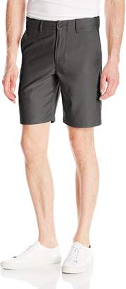 Haggar Men's In Motion Melange Flat Front Slim Fit Active Short