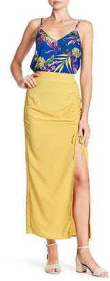 Know One Cares Cinched Midi Skirt