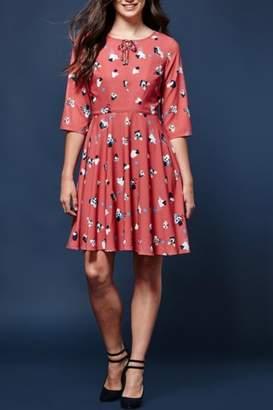 Yumi Abstract Impressionist Dress