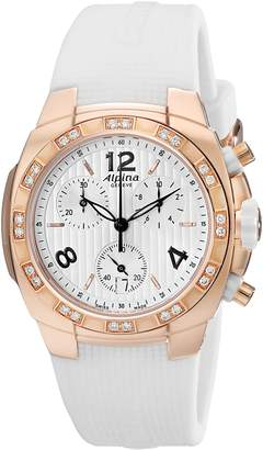 Alpina Women's AL350LWWW2AD4 Analog Display Swiss Quartz White Watch
