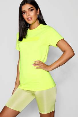 boohoo Ava Premium Neon High Build Woman Tee