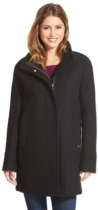 Petite Women's Ellen Tracy Wool Blend Stadium Coat $198 thestylecure.com