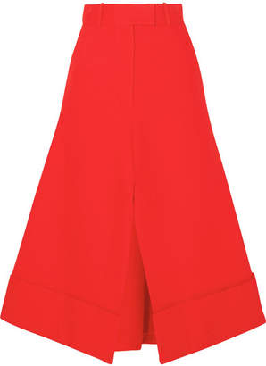 Awake Cotton Midi Skirt - Red