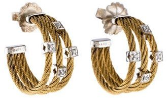 Charriol Charriol Two-Tone Cable Hoop Earrings