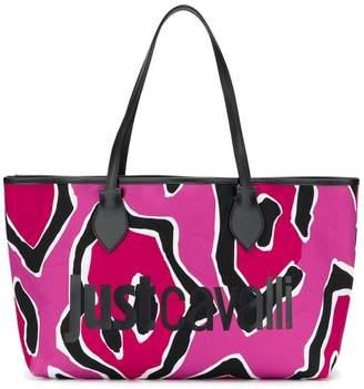 Just Cavalli pink logo tote bag