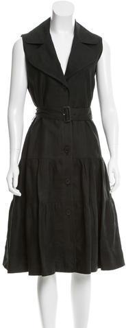 Burberry Burberry Flared Notch-Lapel Dress
