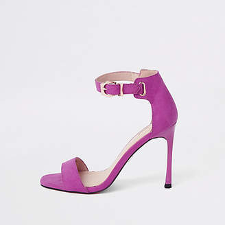 River Island Womens Pink faux suede barely there sandals