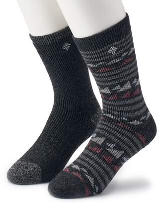 Columbia Men's 2-pack Fashion Wool-Blend Crew Socks