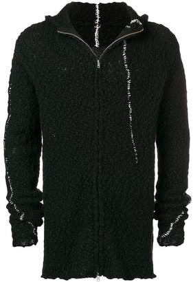 Thom Krom fleece hooded cardigan