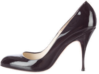 Brian Atwood Patent Leather Round-Toe Pumps $140 thestylecure.com