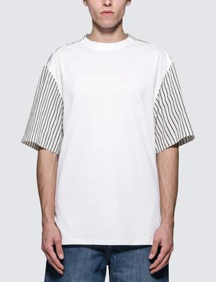 Lanvin Short Shirt Back Fabric Mix S/S T-Shirt