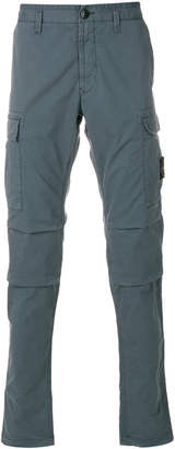 Stone Island fitted chino trousers