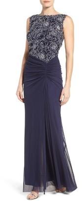 Women's Tadashi Shoji Lace & Mesh Gown $298 thestylecure.com