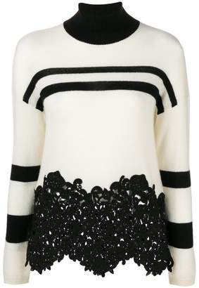 Ermanno Scervino lace-panelled sweater