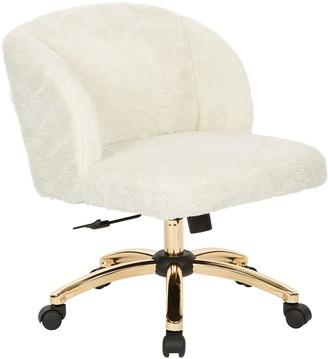 Ave Six Ellen Faux-Fur Desk Chair