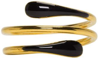 Isabel Marant Gold and Black Casablanca Ring