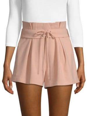 Endless Rose Pleated Lace-Up Shorts