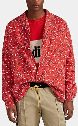 RHUDE Men's Bandana-Print Cotton Shirt - Red