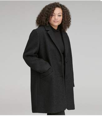 Andrew Marc Paige Plus Pressed Boucle Coat