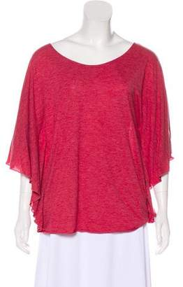 Elizabeth and James Short Sleeve Scoop Neck Top