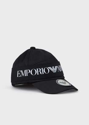 Emporio Armani Baseball Cap With Logoed Band