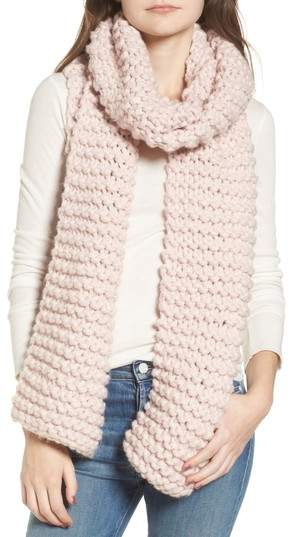 Nordstrom Sole Society Chunky Knit Scarf in Blush
