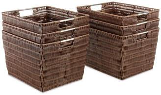 Whitmor Storage Baskets, Set of 6 Large Rattique