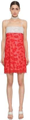 Nina Ricci Crystals & Lace Dress