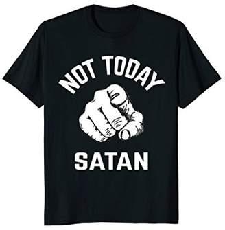 Not Today Satan Tshirt Funny Sayings Christian Tees Tops