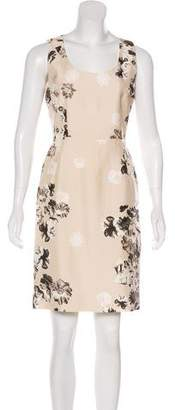 Giambattista Valli Floral Shantung Dress
