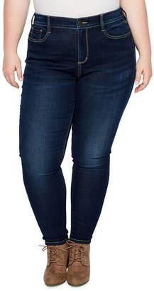 Boutique + + 5 Pocket Curvy Fit Skinny Jean - Plus