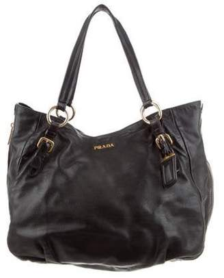 Prada Vitello Daino Zip Tote Nero Vitello Daino Zip Tote