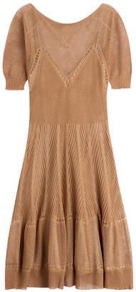 Alberta Ferretti Knitted Linen-Silk Dress