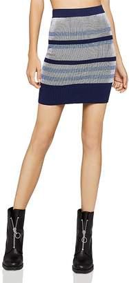 BCBGeneration Rib-Knit Striped Skirt
