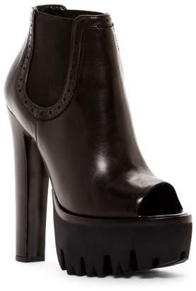 Versace Platform Peep Toe Bootie