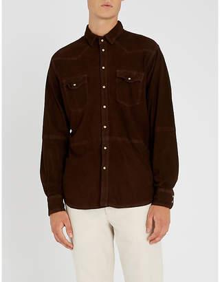 Eleventy Regular-fit suede shirt