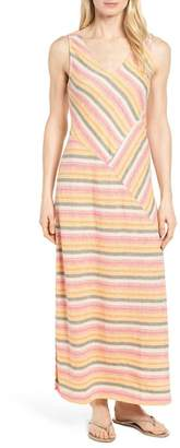 Caslon Stripe A-Line Maxi Dress (Regular & Petite)
