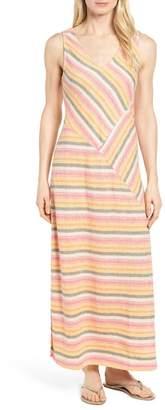Caslon Stripe A-Line Maxi Dress (Regular & Petite)
