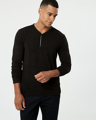 Le Château Cut & Sew Knit Henley Top