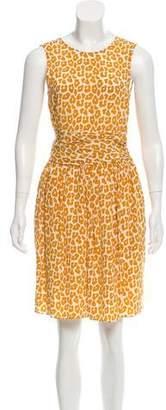 3.1 Phillip Lim Silk Leopard Print Dress