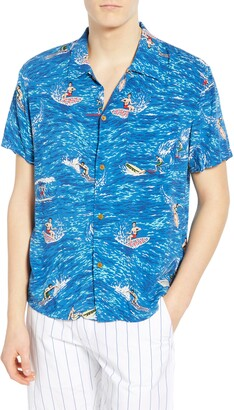 Scotch & Soda Hawaiian Fit Surfer Camp Shirt