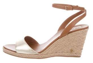 Tory Burch Leather Ankle Strap Espadrilles