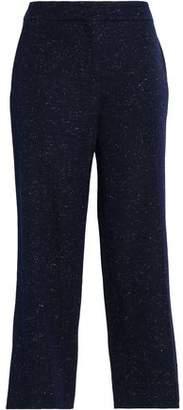 Pringle Cropped Donegal Ponte Slim-Leg Pants