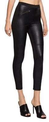 BCBGeneration Mixed Media Faux Leather Moto Leggings