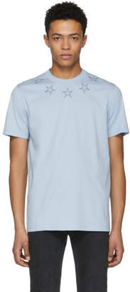 Givenchy Blue Stars Collar T-Shirt