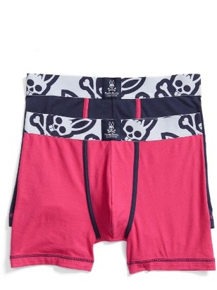 Men's Psycho Bunny Cool Colors Assorted 2-Pack Stretch Cotton Boxer Briefs $34.50 thestylecure.com