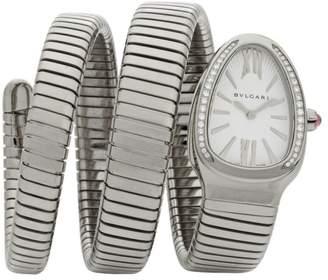 Bvlgari Serpenti Tubogas Stainless Steel & Diamond Double Twist Watch