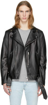 Acne Studios Black Leather Nate Clean Jacket