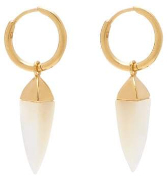 Theodora Warre - Spike Hoop Earrings - Womens - Pearl