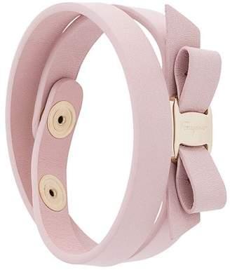 Salvatore Ferragamo Vara bow double bracelet